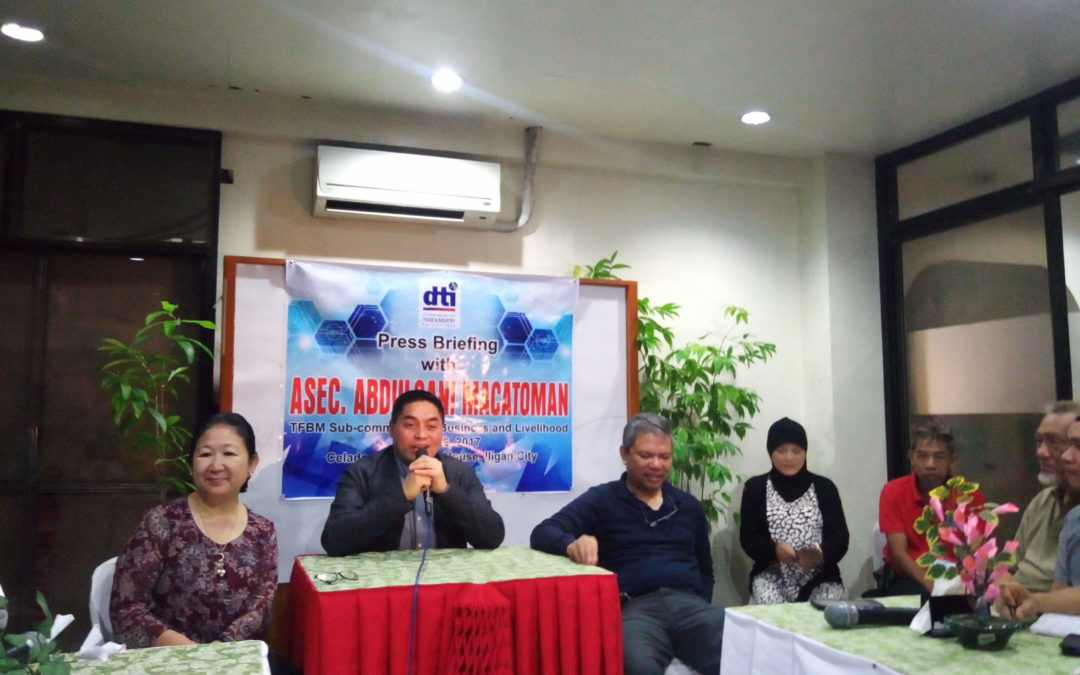 DTI Holds Press Briefing with Assistant Secretary Abdulgani Macatoman